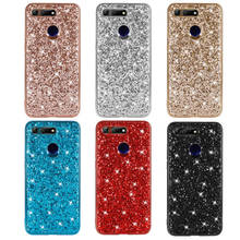 Phone Case For Huawei Honor V20 Silicon Bling Glitter Crystal Sequins Soft TPU Back Cover View 20 funda