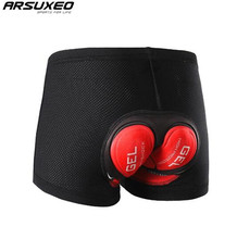 ARSUXEO Men Women Cycling Underwear MTB Bike Bicycle 5DGel Padded Cycling Compression Shorts Tights Cycling Shorts Underwear arsuxeo bicycle cycling 3d padded cushion underpants shorts underwear mtb road bike men women compression shorts