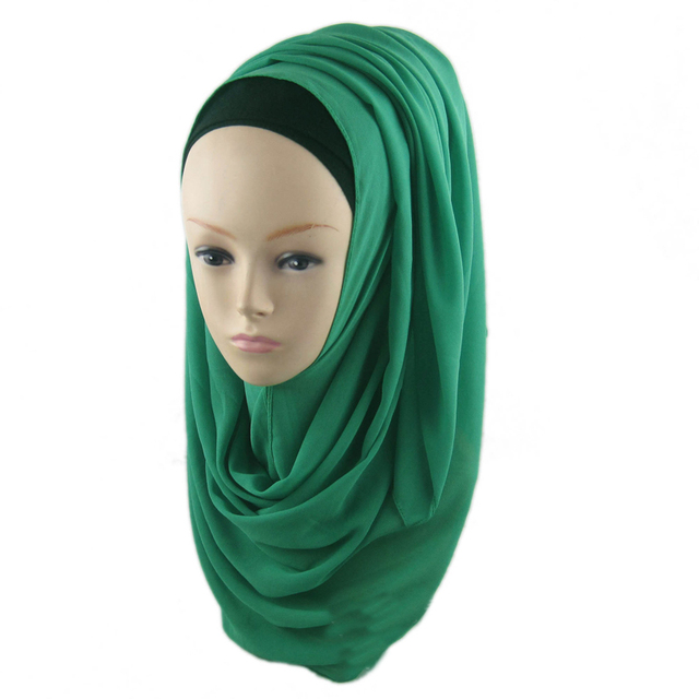 Fashion Women New Foulard Viscose Scarf Islamic Muslim Hijab Hijab Oversized Maxi Neck Plain Shawl Scarves