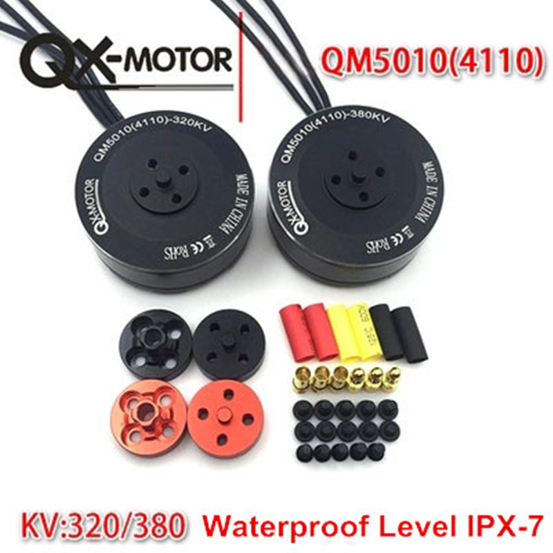 QX-MOTOR 6S 5010 350KV 4008 4108 Brushless Motor Multi-rotor Disc for RC Multicopters Drone 550 650 850 Motor Parts 1pcs underwater thruster brushless motor dc24v high torque waterproof motor 350kv 4023 micro motors for rc airplane parts