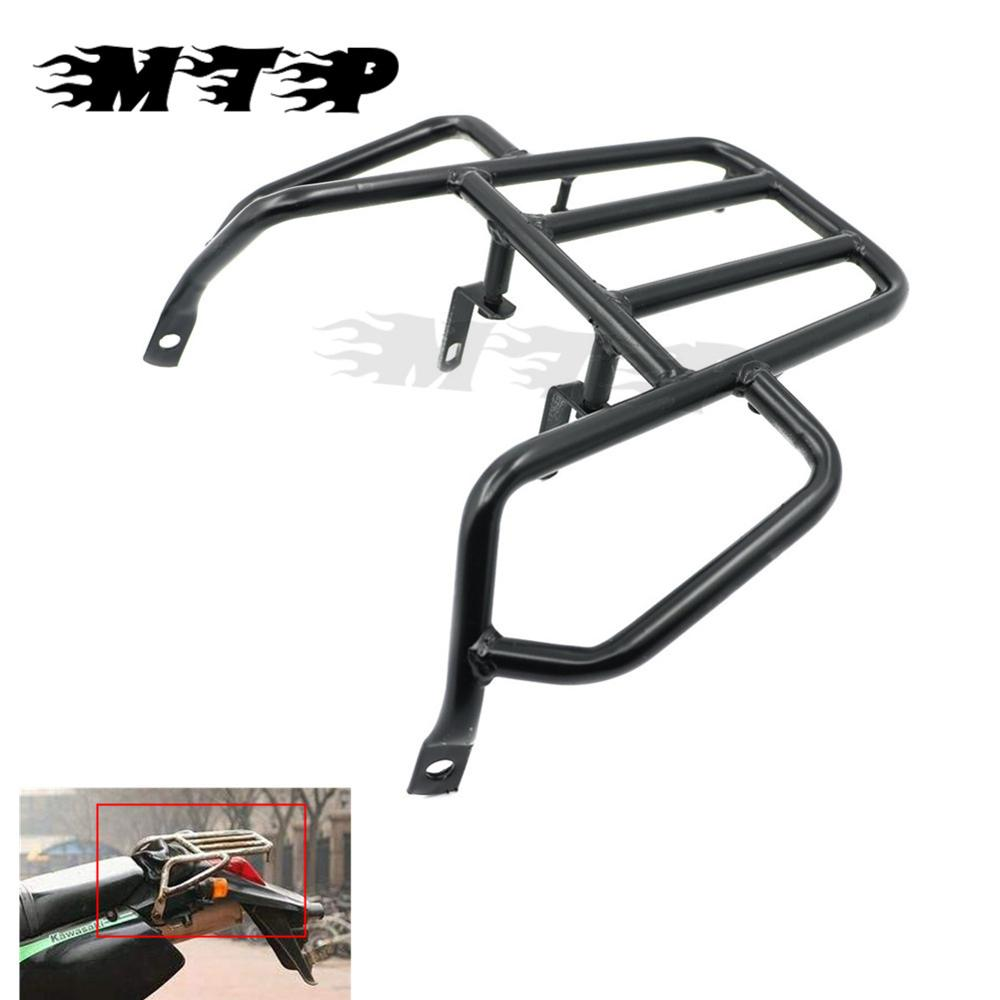 Motorcycle Trunk Luggage Holder Rack Stock For Kawasaki KLX250 KLX 250 1993-2007 Rear Fender Support Shelf Rack partol black car roof rack cross bars roof luggage carrier cargo boxes bike rack 45kg 100lbs for honda pilot 2013 2014 2015