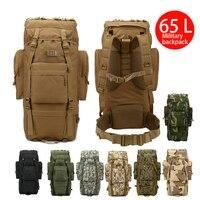 65L Outdoor Sport Bag Large Molle Rucksack Man Travel Bag Mountaineering Backpack Male Luggage Boys Shoulder Bags Men Backpacks