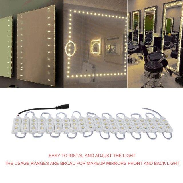 3 m 20Row + Dimmer + Adapter 5050 Spiegel Lamp LED Licht Warm Wit EU ...