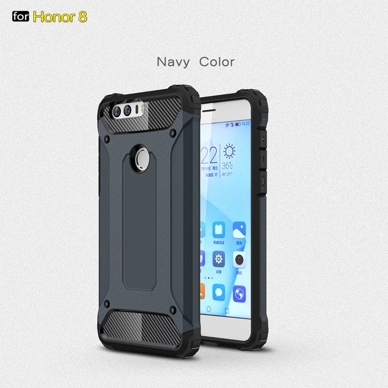 Lujo honor 8 case armor protector a prueba de polvo del teléfono accesorios case