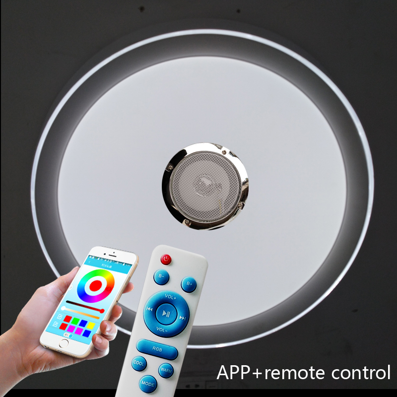 Modern LED Ceiling Light RGB Dimmable 36W APP Remote Bluetooth Music Light Living Room Baby Bedroom Ceiling Light AC85-265V led ceiling light multi color and dimmable with bluetooth app and sound speaker for living room bedroom room