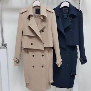Women's Double Button Trench W