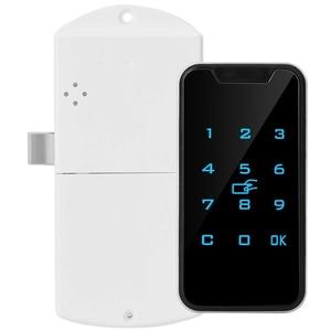 Image 4 - 953M1 Smart Kasten Universal Zinklegering Digitale Kast Anti Diefstal Wachtwoord Lock Elektronische Batterij Aangedreven Touch Toetsenbord