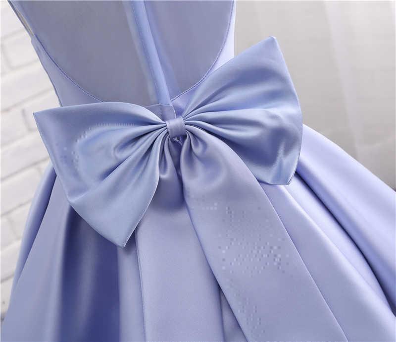 Forevergracedress реальные фотографии Прекрасное платье с цветочным узором для девочек милые лаванды без рукавов с Пояса Лук Дети Праздничное платье