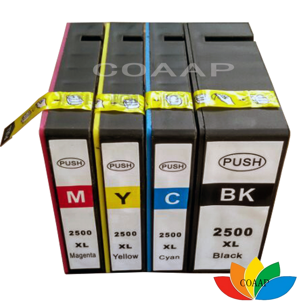 4pcs Compatible Ink Cartridge PGI 2500 XL for canon MAXIFY iB4050 MB5050 5350 MB4050 MB5350 printer ink pgi2500 pgi-2500