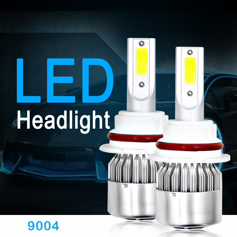 2PCS H7 H4 Led Car Headlights Bulbs H1 H11 Bulbs 12V H3 H8 H9 9004 9005 HB3 880 Auto Head Lamp Lights 72W 8000LM 6000K 1 set 8000lm h11 car led headlight kit bulbs cob chip auto led conversion kit 12v h8 h9 replace for halogen lights or hid bulbs