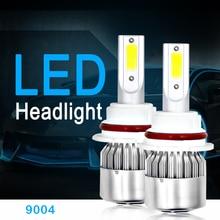 2 шт. H7 H4 светодиодные лампы фар автомобилей H1 H11 лампы 12 В H3 H8 H9 9004 9005 HB3 880 авто голова лампа загорается 72 Вт 8000LM 6000 К