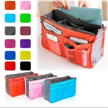 Multi-function Travel Cosmetic Bags Makeup Brush Handbag Pouch Zipper Large Beauty