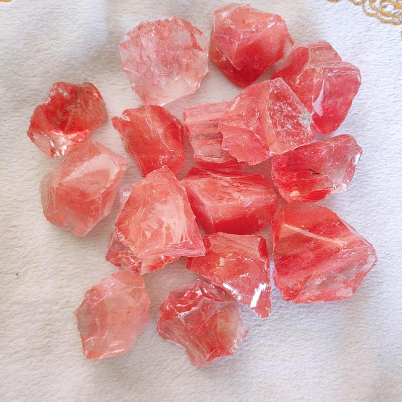 100g 2-5cm size Watermelon Red Raw Stone Quartz Crystals And Minerals Natural Crystal Stones Crude Minerals Mineral Stone D3
