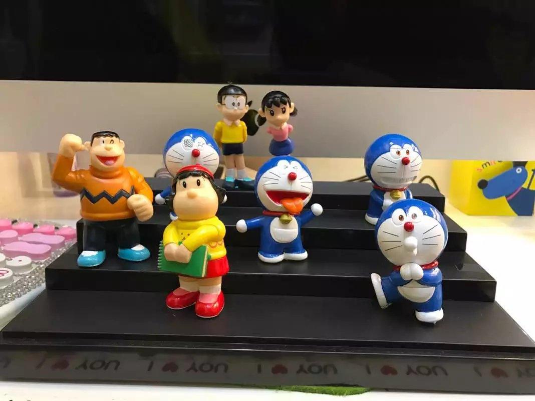 NEW 8pcs/lot 5-7cm pvc anime figure Doraemon action figure collectible model toys brinquedos