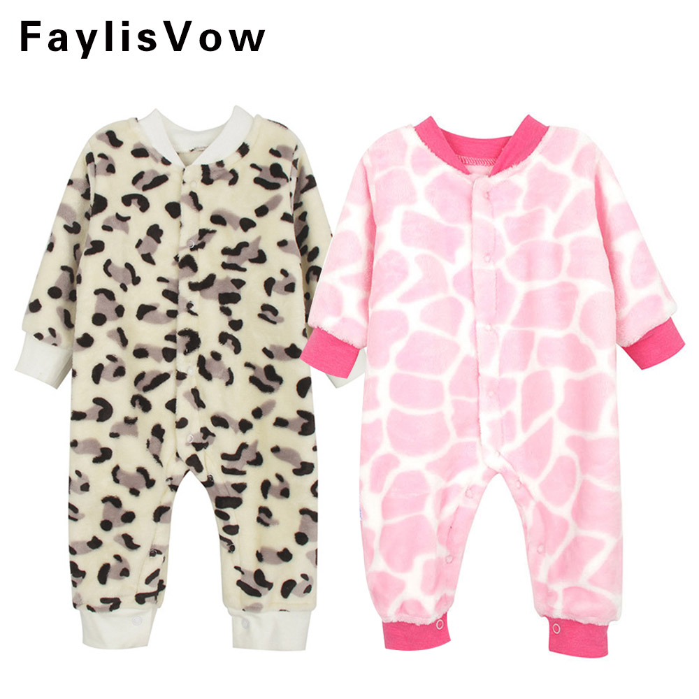 Baby Flannel Fleece Romper Newborn Costume Clothes Animal Pattern Overall Menina Infant Autumn Winter Warm Long Sleeve Jumpsuit cartoon newborn baby romper costume baby clothes animal overall winter warm longsleeve baby rompers jumpsuit fz044 17