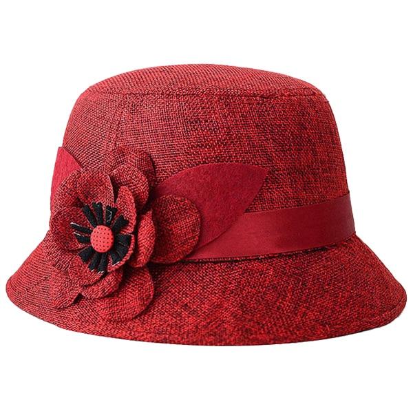 Bohemia Cap Women s Elegant Brim Summer Beach Flower Bowler Sun Hat  Billycock red-in Sun Hats from Apparel Accessories on Aliexpress.com  d1fe42d5d95