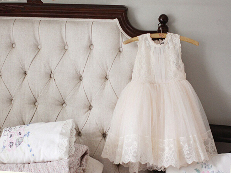 New Posh Baby Girls Party Dress Pretty Lace & Tulle Flower Girls Dress Sleeveless Blossoms Style Girls Clothes ems dhl free 2017 new lace tulle baby girls kids sleeveless party dress holiday children summer style baby dress valentine
