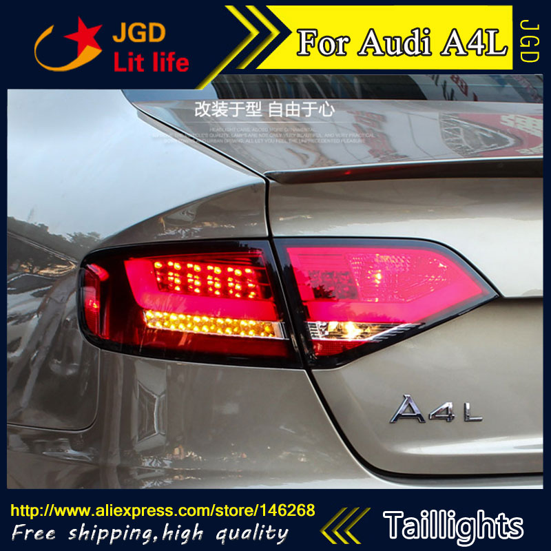 Car Styling tail lights for Audi A4L LED Tail Lamp rear trunk lamp cover drl+signal+brake+reverse car styling tail lights for ford ecopsort 2014 2015 led tail lamp rear trunk lamp cover drl signal brake reverse