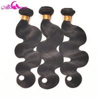 Ali Coco Hair 3 Bundles Peruvian Body Wave Hair Weft Natural Color Human Hair Weaving 8