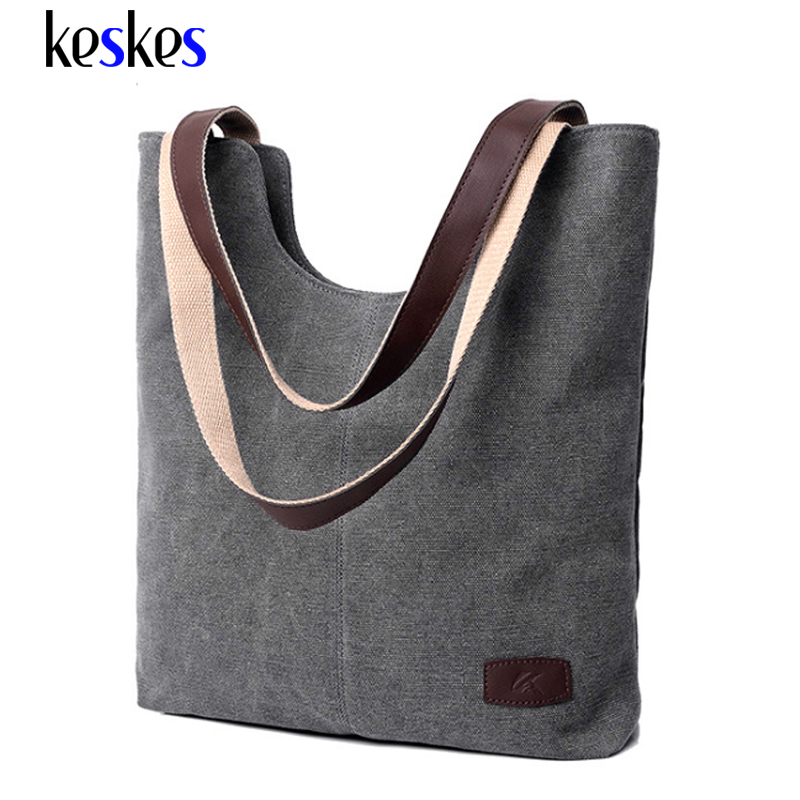 Famous Brands Canvas Women Handbags Medium Women Shoulder Bags Tote Bags Women Bags 2017 Casual Female Canvas Handbag C1341KK