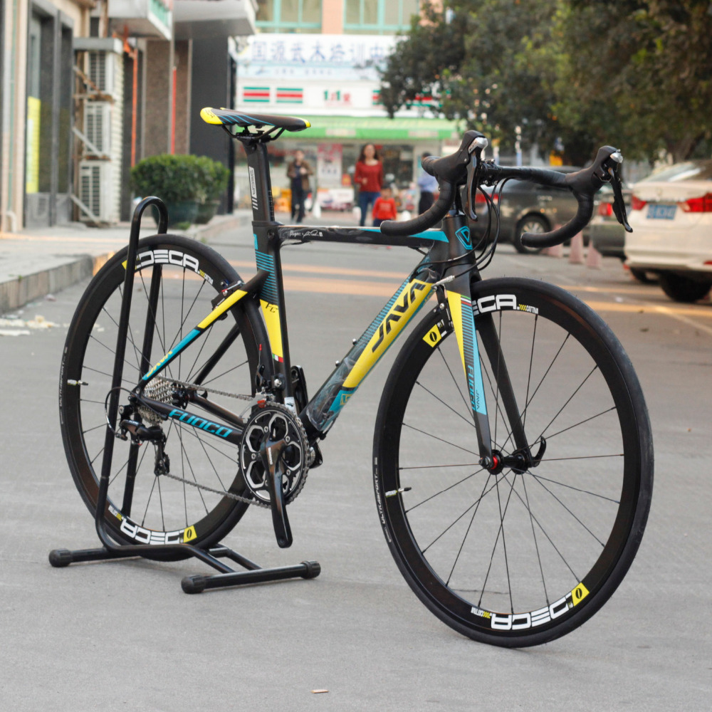 JAVA Fuoco Aluminium Road Bike with Carbon Fork 700C Direct Mount Aero V Brake Brake 22 Speed