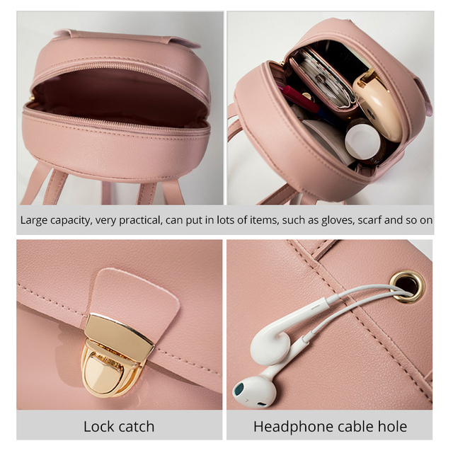 Korean Style Girls' Backpack 2019 Fashion Multi-Function Small Back pack Women Shoulder Hand bags Female Bagpack School Bag Pack