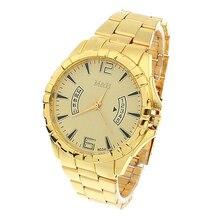 Brand Gold Clock Luxury Watches Men Stainless Steel fashion Casual Kors Wristwatches Quartz Watch Relogio Masculino #LSN