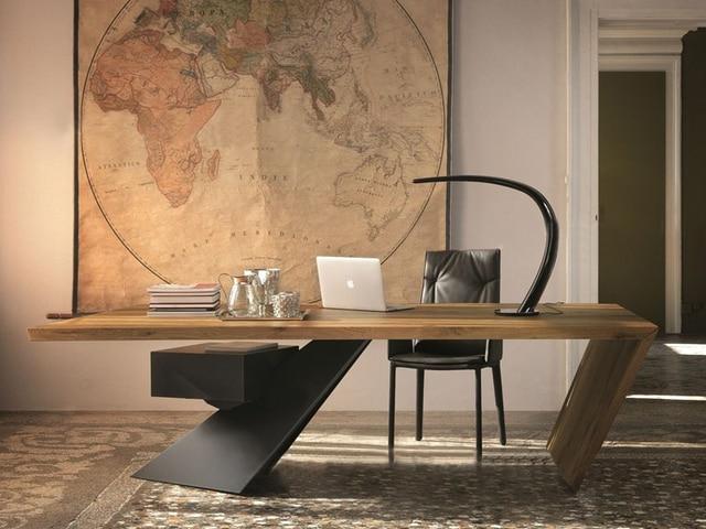 Table de bureau en fer forgé chinois lampe de table simple tissu