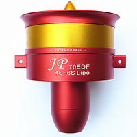 Metal JP 70mm Ducted Fan EDF Jet 12 Blade 2s-6s Lipo Motor Electric for RC airplane