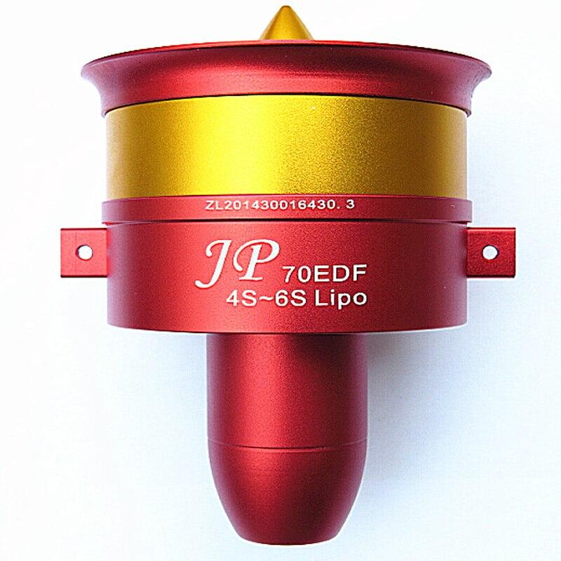 Offre spéciale métal JP/GP 70mm conduit ventilateur EDF avec 100A ESC Set Jet 12 lame 2 s-6 s Lipo moteur électrique pour modèle d'avion RC