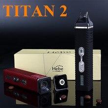 Cigarette électronique Cire Herbe Sèche Vaporisateur Titan 2 Hebe Boîte Mod Kits E Cigarette Torsion Vaporisateur À Base de Plantes Herbe Vaporisateur X8249