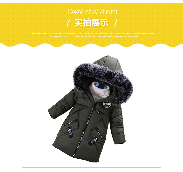 f231ee09d Boys Warm Coat Winter Jackets For Kids Clothes Snowsuit Parkas ...