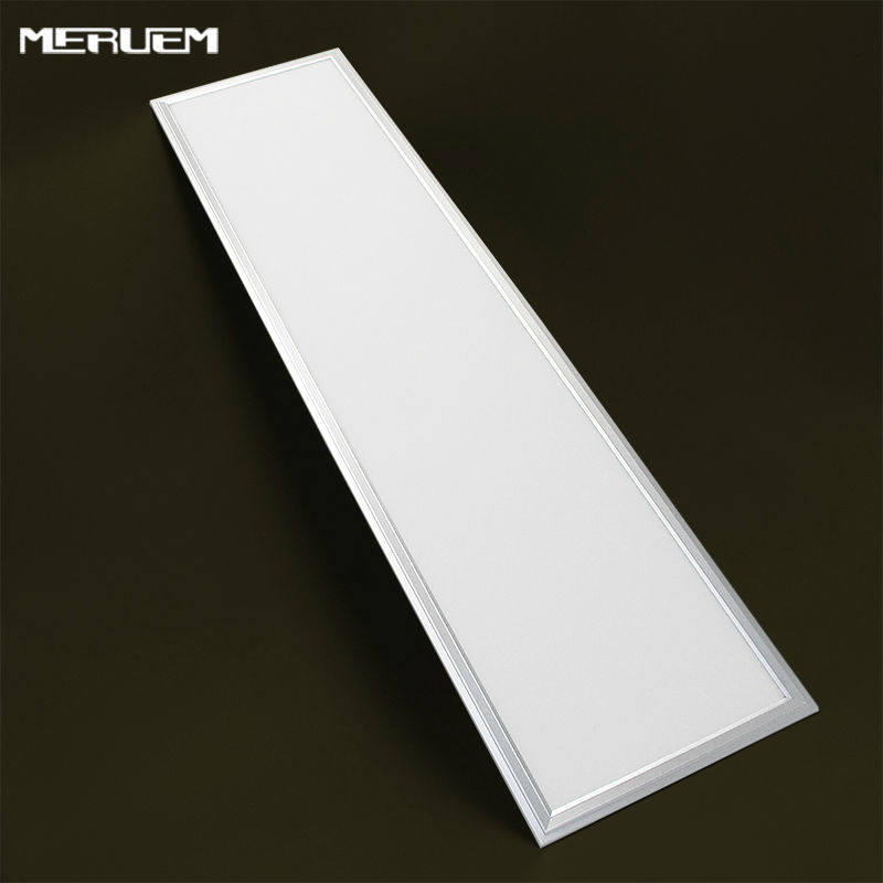 Free shipping 2/3/4/6/8pcs/pack led panel light Sliver outline 1200*300mm led dimmable flat lamps for kitchen bathroom office
