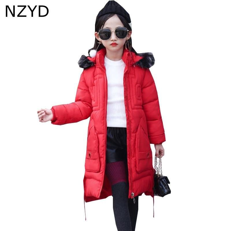 New Fashion Winter Cotton Girls Coat 2017 Han edition Children Thicken Hooded Zipper Coat Casual Warm Kids Clothes DC678 цены онлайн