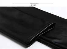 New Winter Thickened Leggings Skinny Pants Women Black Leather Warm Pants waist high trousers High Quality Big Size