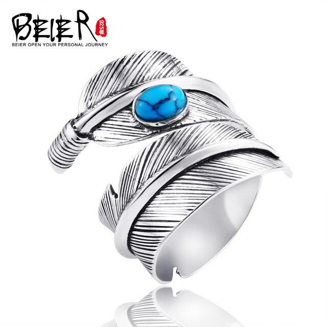 Beier cửa hàng mới đến 925 bạc sterling silver lông phụ kiện thời trang mở trang sức cho nam giới vòng LR925K039