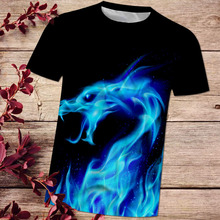 Fashion 3D T shirts summer Fire dragon t-shirt casual tshirt