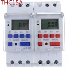 Thc15a AHC15A din-рейка таймер реле времени еженедельные программируемые электронные реле времени 220 В колокольное кольцо устройство ОК