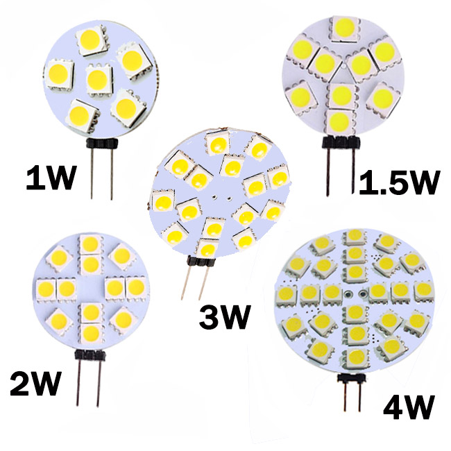 G4 LED Lamp 1W 1.5W 2W 3W 4W 5050 SMD Spotlight Corn Bulb Car Boat Truck Cabinet Automotive RV Light DC12V 6/9/15/12/24 LEDs