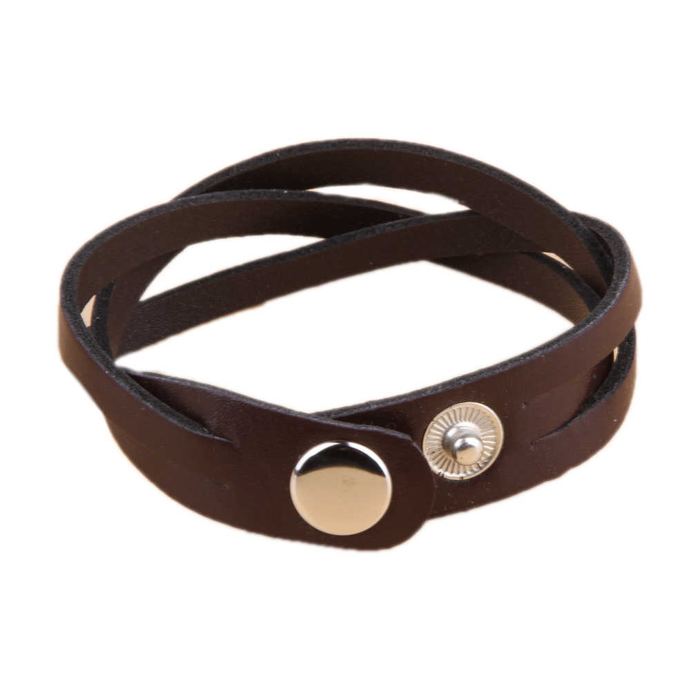 2019 New Simple Style Twisted Leather Braided Bracelet Leather Pu Bracelet For Women & Men Drop Shopping