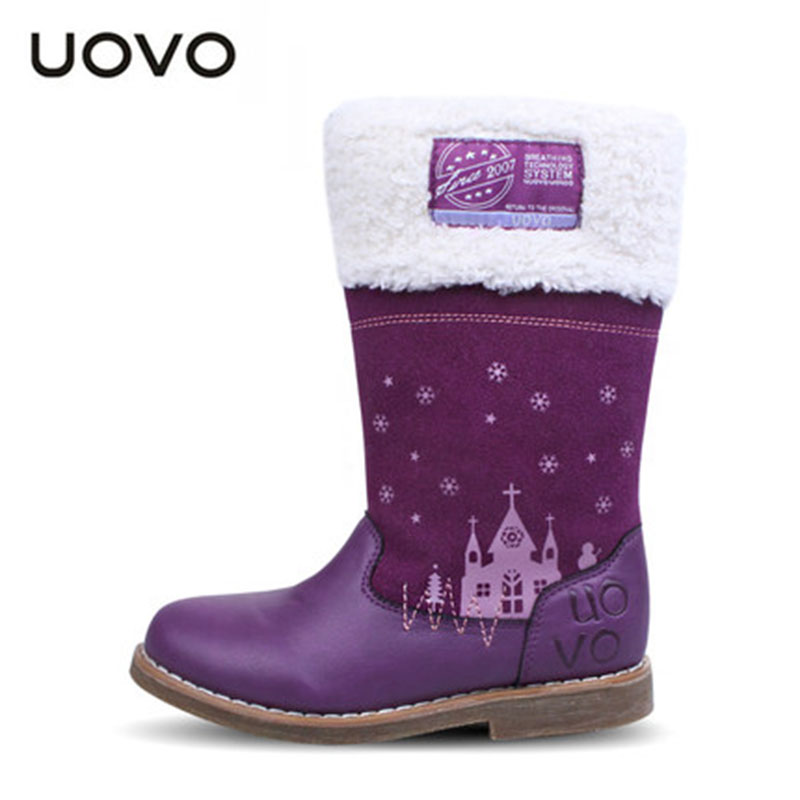 цены  2017 New Girls Martin Boots Uovo Brand High Quality Space Leather Princess Winter Shoes Kids Fashion Boots Children Botas Ninas