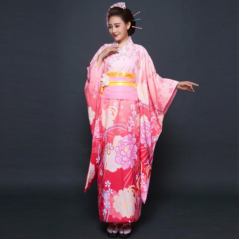 Novi Party Cosplay Cotume Japanski Kimono Žene Yukata Tradicionalni - Nacionalna odjeća - Foto 3