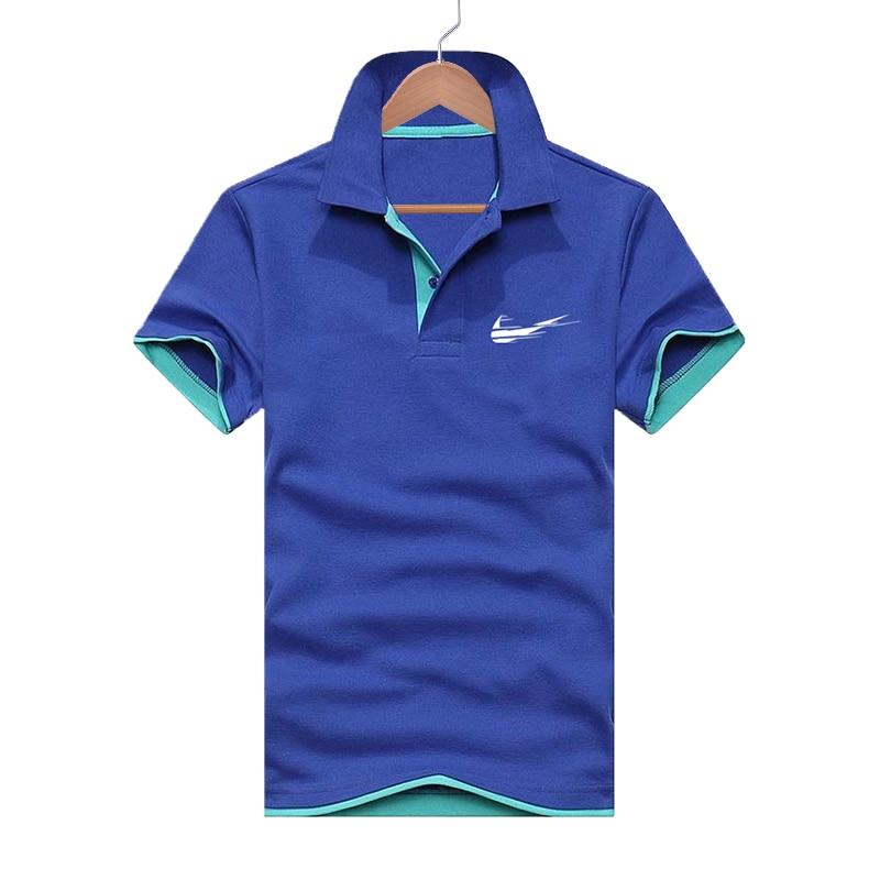 Summer New Short-sleeved Shirt Men's Fashion Brand   Polo   Shirt Men's Brand Shirt Cotton Casual Slim Shirt