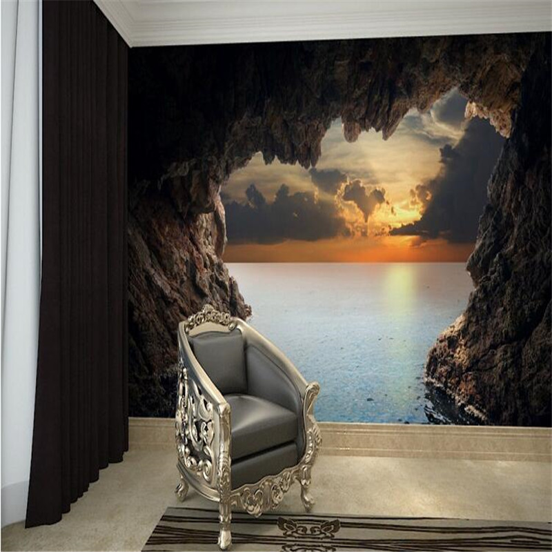 Online buy wholesale seascape wall murals from china for Modern 3d wallpaper for bedroom
