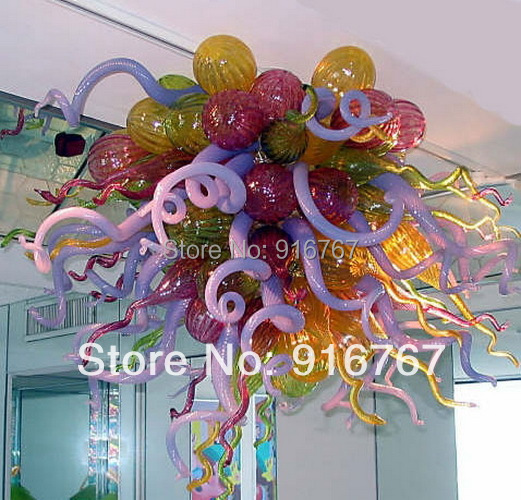 LR042   Free Shipping High Quality Hanging Purple Glass Chandelier Chandeliers Lights & Lighting - title=