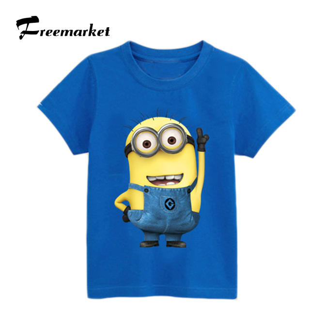 43b2665f Cute! kids clothes boys T-shirts anime figure despicable me minions clothes  minions t shirt boys clothes children T- shirts