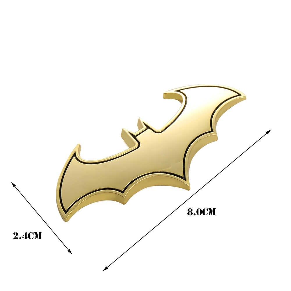 1PC 3D Metal Batโลโก้รถยนต์สติกเกอร์โลหะBatmanป้ายสัญลักษณ์ตราสัญลักษณ์Decalรถจักรยานยนต์เครื่องมือจัดแต่งทรงผมอุปกรณ์เสริม