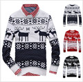New 2016 Fahion Winter Warm Wool Knitted Mens Ugly Christmas Deer Sweater Crewneck Long Sleeve Reindeer Pullover Knitwear M-XXL