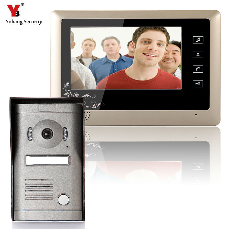 Yobang Security 7inch Video Door Phone Video Intercom Doorbell Home Security IR Camera Monitor With Night Vision Videoportero diysecur 7inch video door phone doorbell video intercom metal shell camera led night vision 1 monitor black for home office