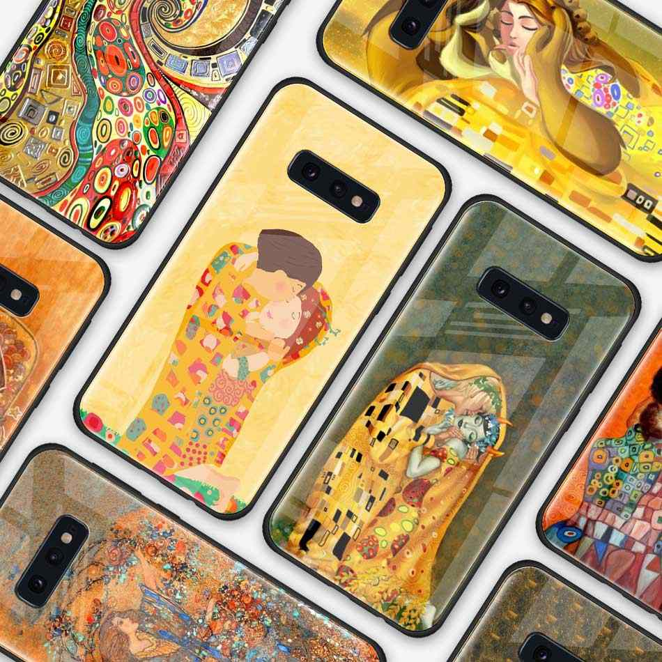 Kiss de Gustav Klimt étui pour samsung Galaxy S10 S10e S9 S8 S10 Plus Note 9 A50 A30 Coque de protection pour coques de téléphone